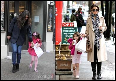 Katie Holmes Celebrating 34th Birthday with Daughter Suri