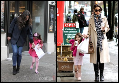 Katie Holmes Celebrating 34th Birthday with Daughter Suri