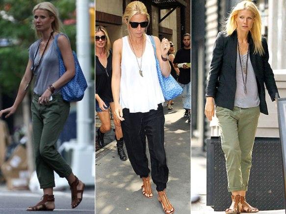 gladiadoras-Gwyneth-Paltrow-sandália-gladiadora