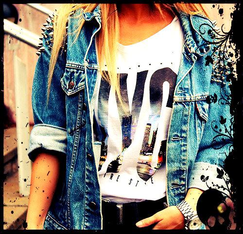 jaqueta jeans com spikes 6