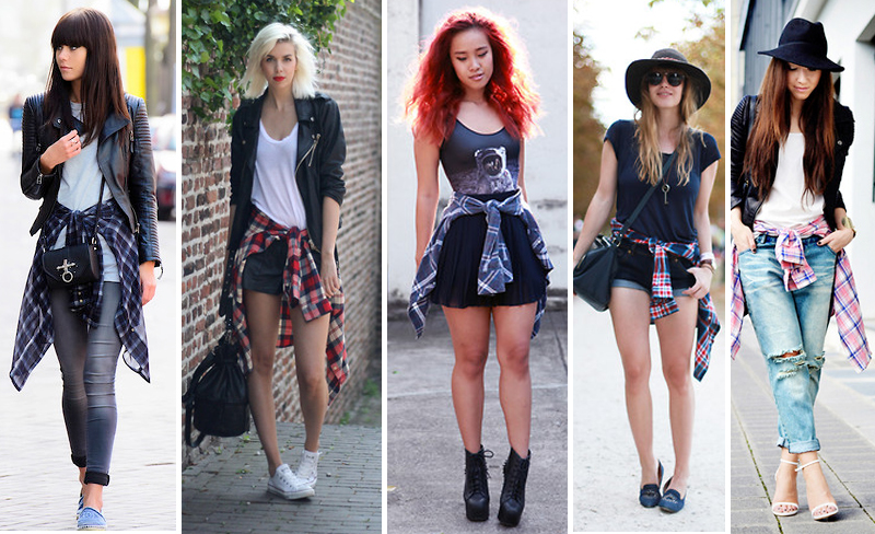como-usar-camisa-xadrez-amarrada-na-cintura-Blog-de-moda-feminina